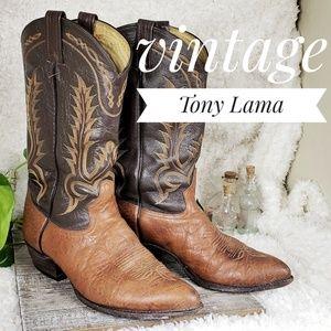 Men's Vintage Tony Lama Real Cowboy Boots Size 9E